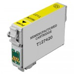 Remanufactured Epson 127 (T127420) Extra High Yield Yellow Ink Cartridge - T1274