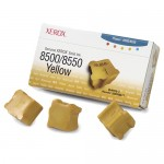Xerox OEM 108R00671 (3-pack) Yellow Solid Ink ColorStix for Phaser 8500/8550 Printers