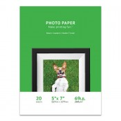 Premium Matte Photo Paper, 5 x 7, 20 Sheet Pack, 260g, Resin Coated