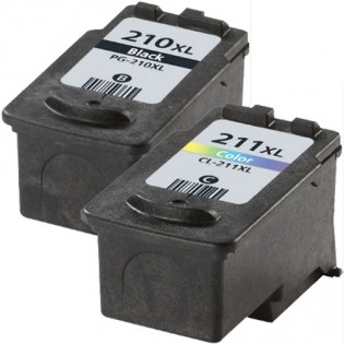 Canon PG-210XL Black & CL-211XL Color 2-pack High Yield Ink Cartridges