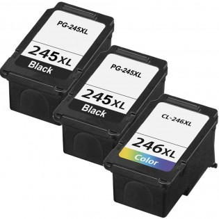 Canon PG-245XL Black & CL-246XL Color 3-pack High Yield Ink Cartridges