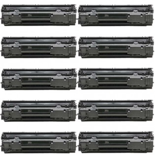HP 35A (CB435A) 10-pack Black Toner Cartridges