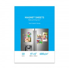 photo regarding Printable Magnet Sheets titled High quality Shiny Inkjet Magnet Sheets, 4 x 6, Solid Included - 10 Sheet Pack