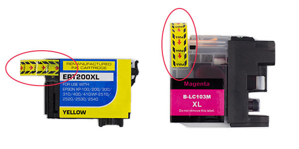 Ink Cartridge yellow or orange tape